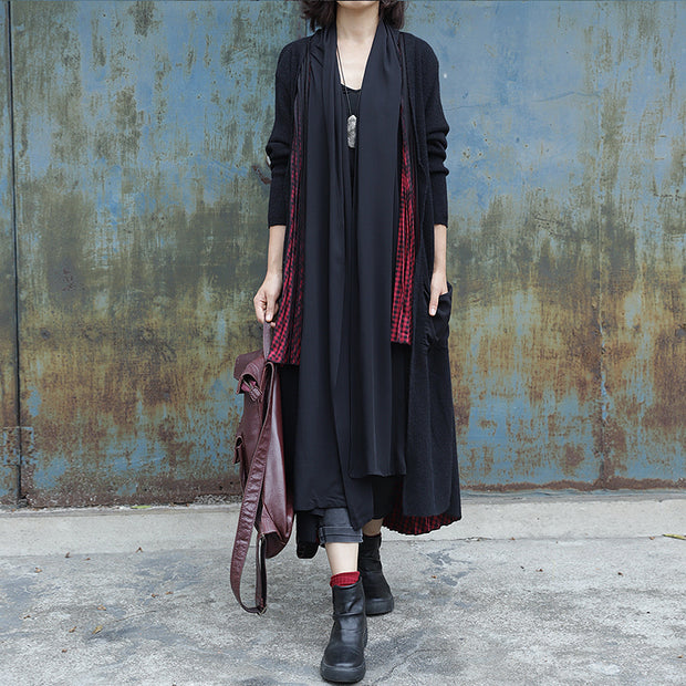 Irregular Draped Design Casual Loose Coat