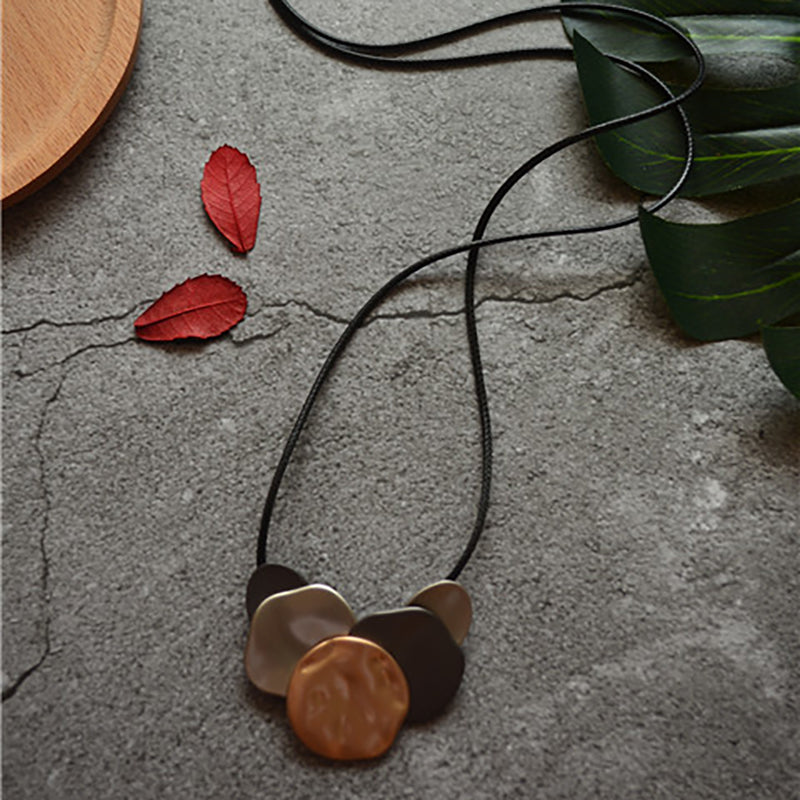 Irregular Geometric Vintage Pendant Long Necklace