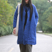Jacquard Solid Long Cotton Pad Winter Coat