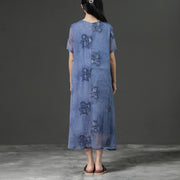 Jacquard Summer Purple Loose Casual Dress