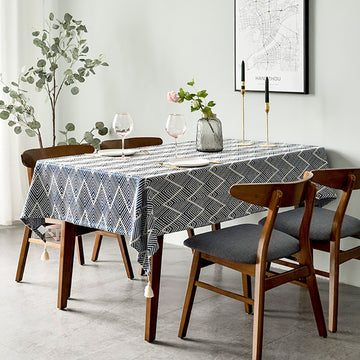 Japanese-style Ins Wavy Jacquard Tablecloth