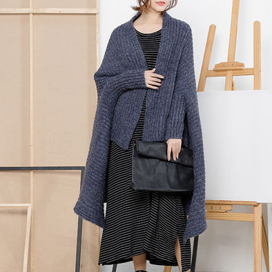 Lady Long Designed Cloak Cardigan Sweater