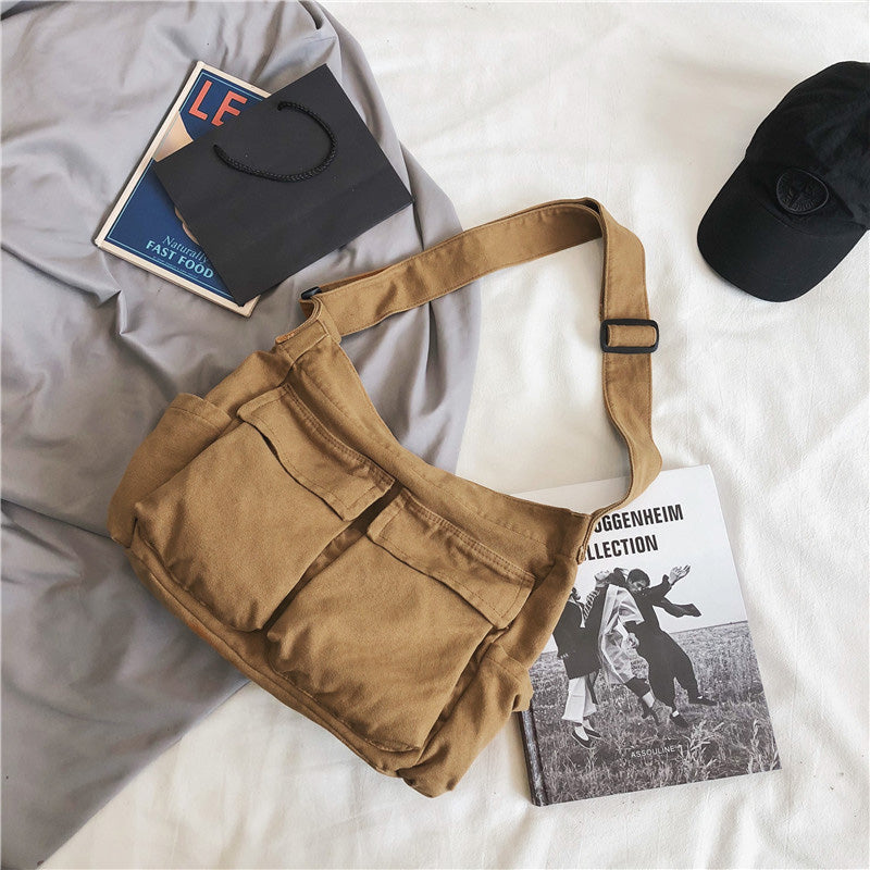 Large Capacity Casual Canvas Shoulder Bag