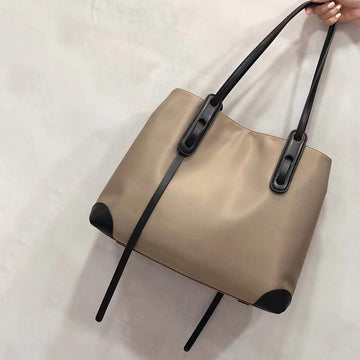 Large Capacity Stitching Shoulder Bag