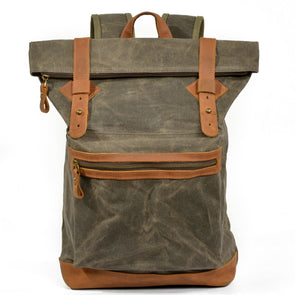 Large Capacity Canvas Mountaineering Backpack