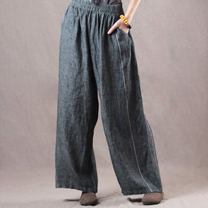 Large Size Linen Loose Wide Leg Pants