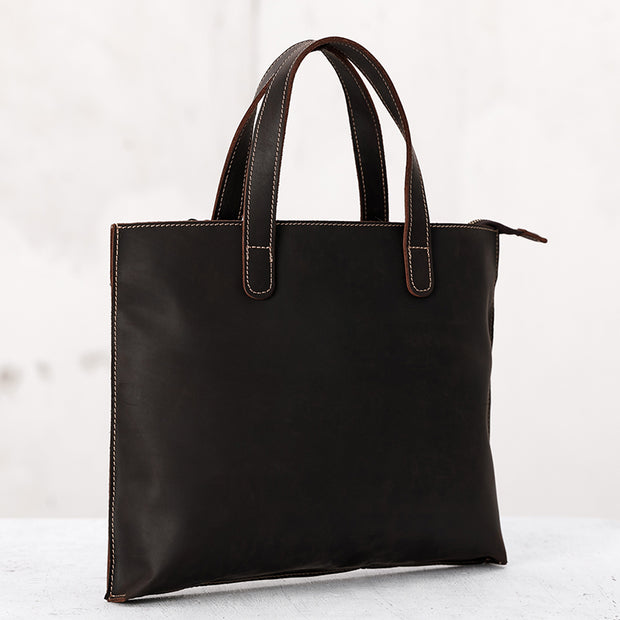 Leather Solid Retro Square Tote Bags