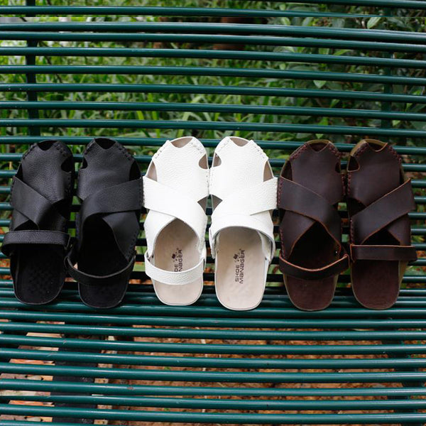 Leather Vintage Popular Soft Flat Slippers
