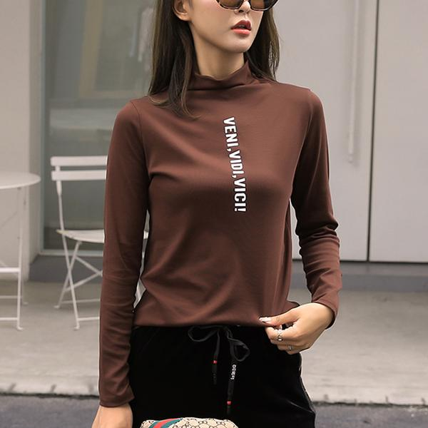 Fashion High Collar Women Shirt