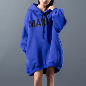 Letter Drawstring Loose Winter Hooded Dress