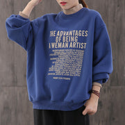 Letter Printed Fake Two-piece Sweatshirt