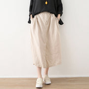 Linen Solid Cotton Linen Irregular Skirt