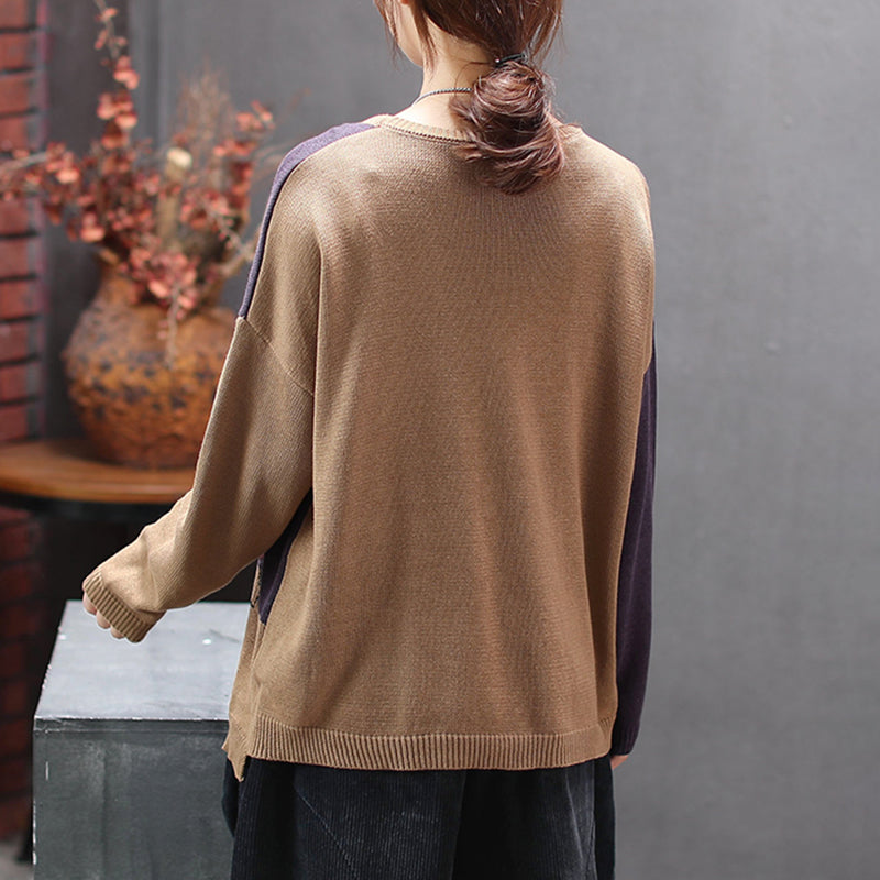 Long Sleeve Cartoon Casual Knitting Shirt