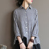 Long Sleeve Loose Plaid Casual Shirt