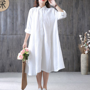 Long Sleeve Polyester Autumn Jacquard Dress