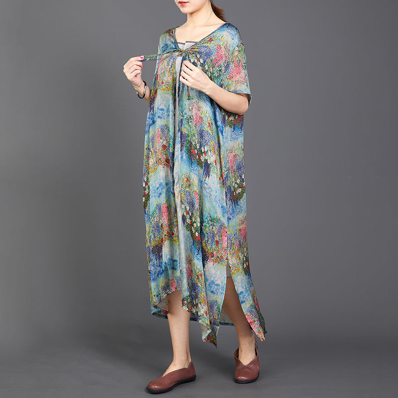Long Thin Women Lacing Print Coat