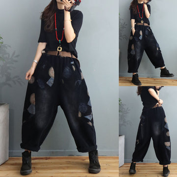 Loose Winter Thicken Corduroy Pants With Belt