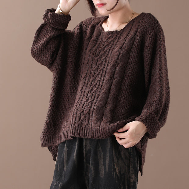 Loose And Comfortable Solid Color Sweater