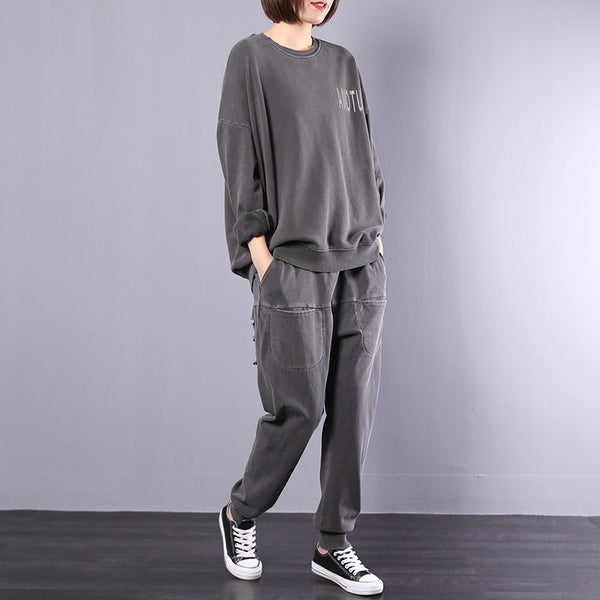 Loose Casual Cotton Blouse And Harem Pants