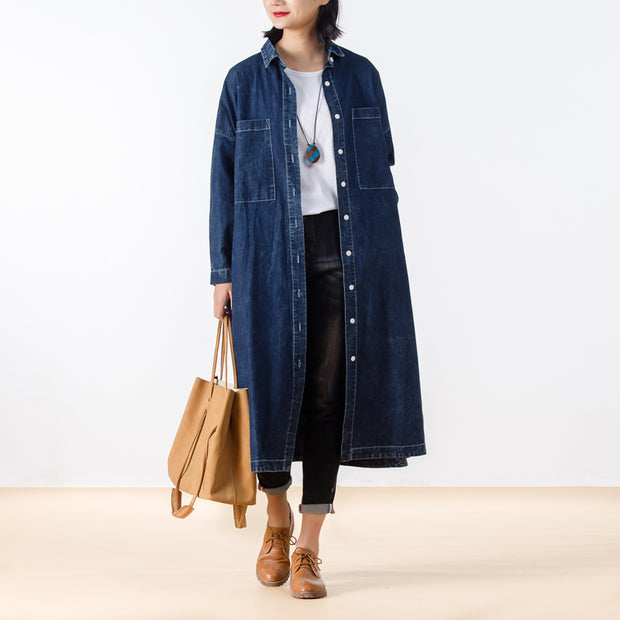 Loose Casual Cotton Women Denim Coat