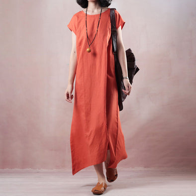 Loose Casual Short Sleeve O-neck Dress