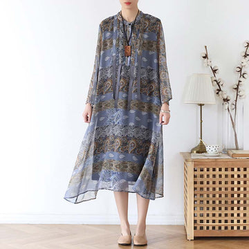 Loose Chiffon Soft Printed Dress