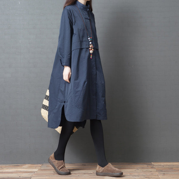 Loose Fashion Long Sleeve Shirt Dress