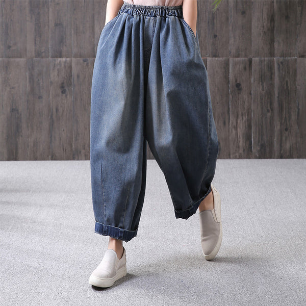 Loose Harem Straight Ankle Length Pants