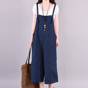 Loose Literary Stripe High Waist Jumpsuit