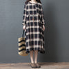 Loose Long Sleeve Spring Plaid Dress
