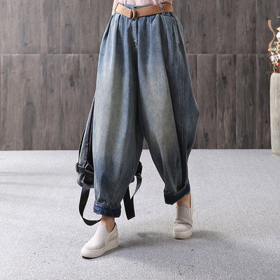 Loose Solid Casual Harem Pants