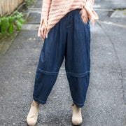 Loose Women Darkblue Loose Denim Bloomers