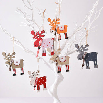 Lovely Elk Christmas Tree Ornament Decor(6 Pieces)