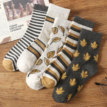 Male Casual Simple Spring Summer Thin Socks(5 Pairs)