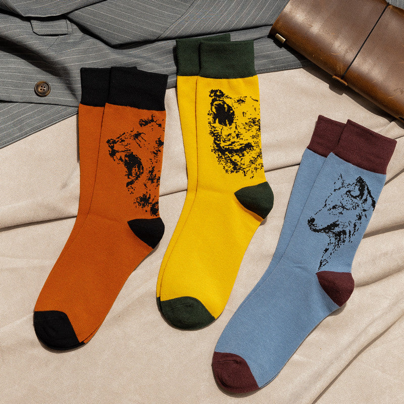 Men Outdoor Sports Cotton Socks(3 Pairs)
