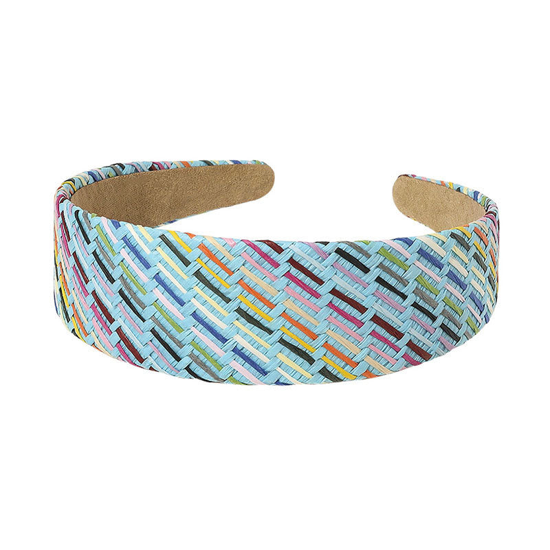 Multicolor Straw Woven Headband(2 Pieces)