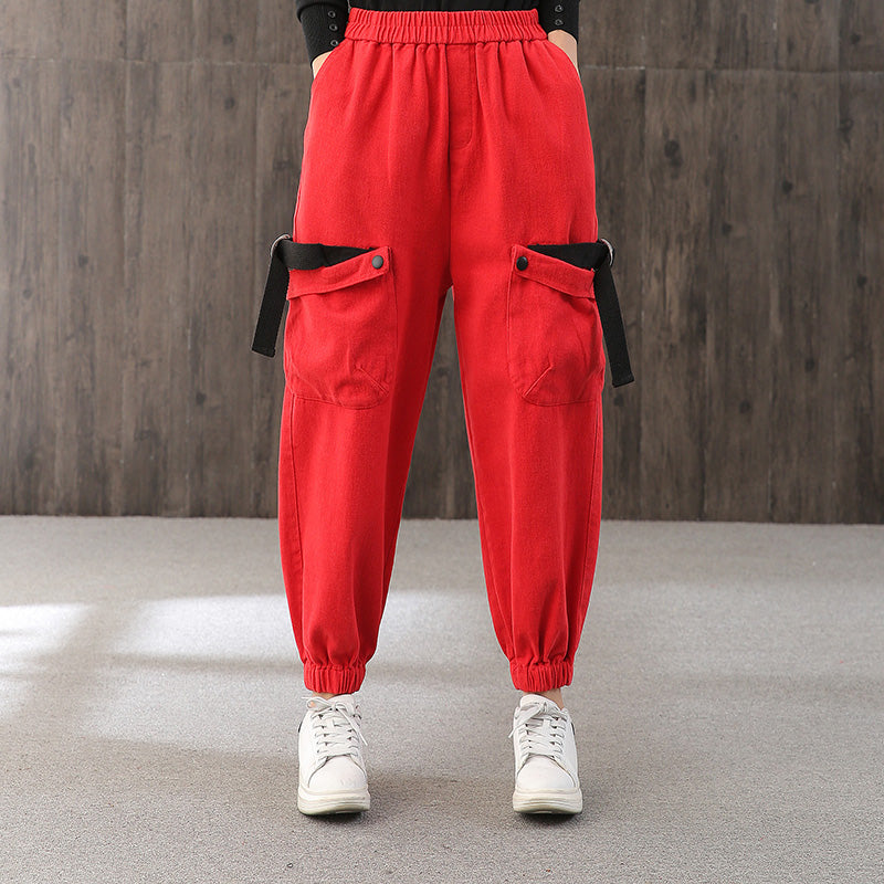 New Big Pockets Casual Ankle Banded Pants