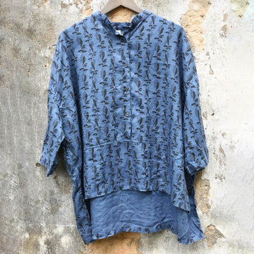 New Long Sleeve Casual Loose Linen Shirt