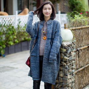 Women Wool Cardigan Solid