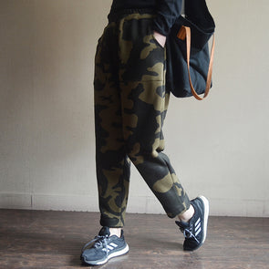 Camouflage Women Casual Winter Cotton Pants