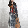 Vintage Printing Retro Loose Spring Long Sleeve Dress