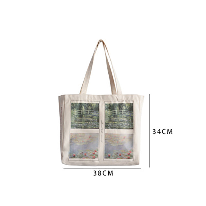 Oil Painting Print Large Capacity Shoulder Bag