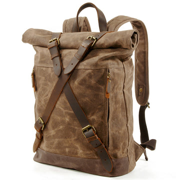 Outdoor Wear-resistant Canvas Backpack