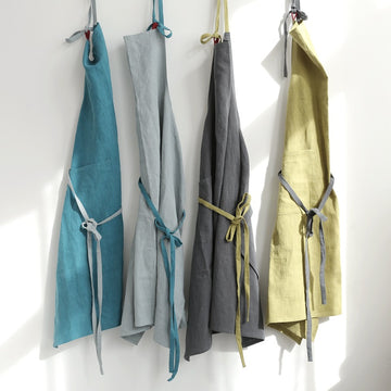 Oversized Solid Color Cotton Linen Apron (100*100cm)