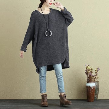 PLUS Size - Autumn Round Neck Woolen Women Sweater Shirt