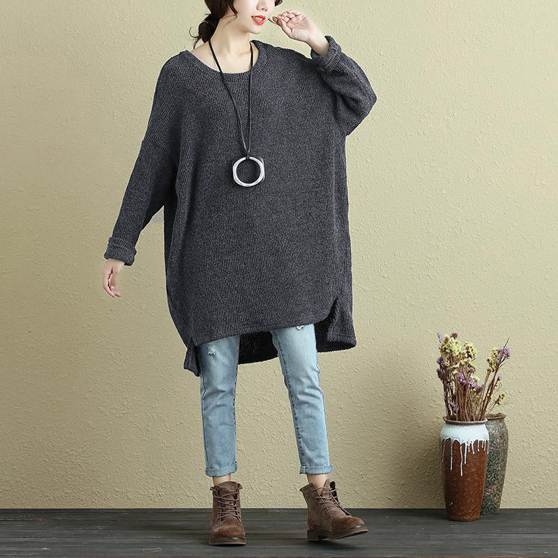 Plus Size - Autumn Round Neck Woolen Women Sweater