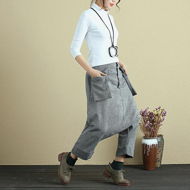 Plus Size - High Waist Women Loose Casual Pants
