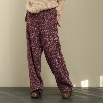 PLUS Size - Retro Loose Women Lacing Wide Leg Pants