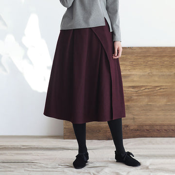 PLUS Size - Winter Thick Pure Color Thick Skirt