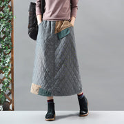 Patchwork Casual Rhombus A-line Skirt